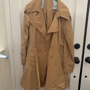 Bebe trench coat size large.